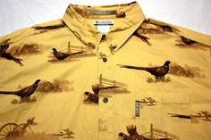 NWOT Men's Columbia River Lodge Pheasant Hunting Shirt sz 2XT #Columbia #ButtonFront