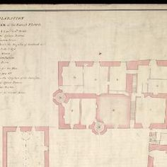 View: [Edinburgh Castle]; Ground Floor Plan; Second Floor Plan; Plan of the Barracks Design'd to be Built in the Year 1755 - Military Maps of Scotland (18th century)