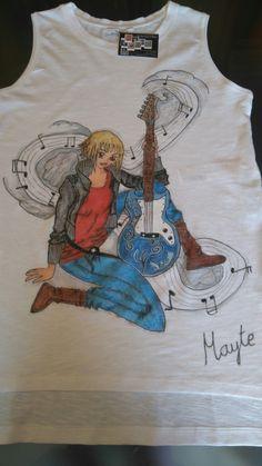 Camisetas pintada a mano, personalizada