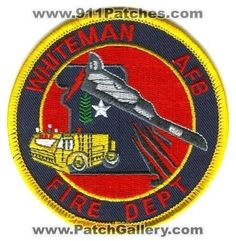 Whiteman Air Force Base AFB Fire Department USAF Military Patch Missouri MO v2 -
