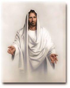 "~Jesus~ ""Abide With Me"" painting by Simon Dewey. Jesus Christ inspires me. Images Du Christ, Images Bible, Pictures Of Jesus Christ, Messages Spirituels, Image Jesus, Happy Easter Everyone, Jesus Christus, Lds Art, Jesus Is Lord"