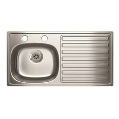 Carron Phoenix Kitchen Sink S/Steel 1-Bowl 940 x Lifetime manufacturers guarantee. Ideal for use with pillar taps. http://www.MightGet.com/january-2017-13/carron-phoenix-kitchen-sink-s-steel-1-bowl-940-x.asp