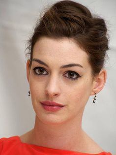 Celebrity Lookbooks: Anne Hathaway at One Day Press Conference, New York ~ Repinned by Federal Financial Group LLC