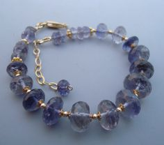 Iolite+Water+Sapphire+Gemstone+Goldfilled+Bracelet+by+eedesigns05,+$59.99