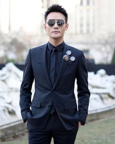 Actor Kai Wang leaving @Kris_Van_Assche's @DiorHomme Winter 2017 show with his new #DiorSynthesis sunglasses expertly engineered to create the illusion of both mirrored lenses being suspended from a single wire. #KVASquad  via DIOR OFFICIAL INSTAGRAM - Celebrity  Fashion  Haute Couture  Advertising  Culture  Beauty  Editorial Photography  Magazine Covers  Supermodels  Runway Models
