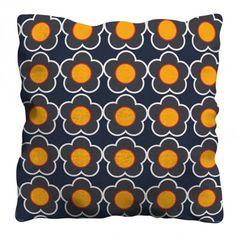Retro Flower cushion by Gail Myerscough
