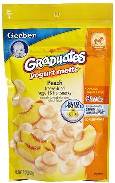 gerber graduates yogurt melts - peach