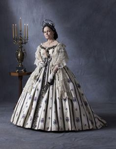 Costume designed by Joanna Johnston for Sally Field in Lincoln (2012) based on two dresses worn by Mary Todd Lincoln.