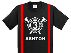 Fireman Birthday Shirt fireman birthday fireman party