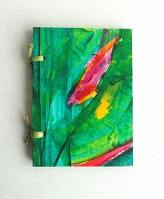 Handpainted Notebook by Kinmcuadernos // Cuaderno  pintado a mano