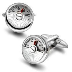 Speedometer mansjettknapper i stål - Gullfunn
