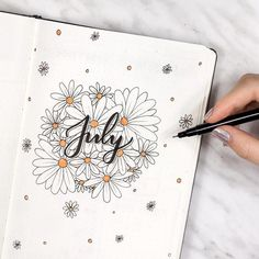 17 Superb Summer Bullet Journal Layouts To Copy! - Summer is here and it's time to start thinking about Summer Bullet Journal themes. And setting up - Bullet Journal 2019, Bullet Journal Ideas Pages, Bullet Journal Spread, Bullet Journal Layout, Bullet Journal Inspiration, Journal Pages, Bullet Journal Month Page, Photo Journal, Junk Journal