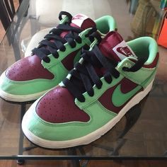 Women's Nike dunk low Soles are paint designed, slightly worn Nike Shoes Sneakers
