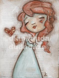 "Cereal Box Art  Set of Two Original Paintings  ""Andrew"" and ""Annie"" ©dianeduda/dudadaze"