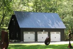 garage ideas Detached Attic Three Car Garage Prices from Sheds Unlimited of Lancaster, PA. Buy a Three Car Garage with attic and loft area. Buy direct from the builder. Two Story Garage, Plan Garage, Garage Shed, Garage House, Detached Garage, Garage Ideas, Garage Exterior, Garage Doors, Garage Cabinets