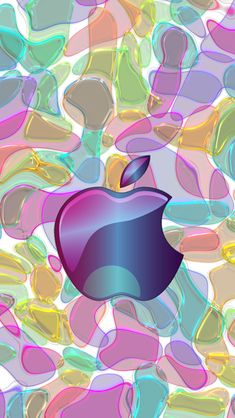 Download Purple Glass 640 x 1136 Wallpapers - 4599113 - Glass Apple Logo | mobile9