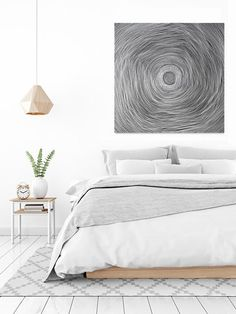 large black and white abstract painting - The Woven Basket II - patterned art, original art, australian art, contemporary art, abstract art