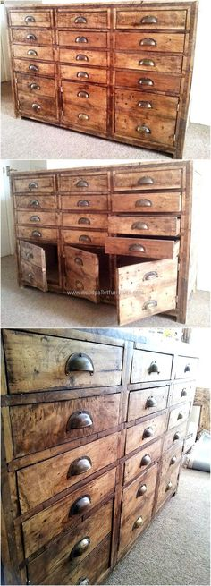 pallets rustic chest of drawers