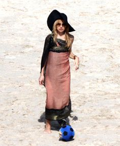 Rachel Zoe spends Christmas morning on the beach with her son Skyler in St Barts on December 25.