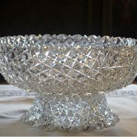 Hawkes and Company, Corning, NY. Russian-pattern Punchbowl, c. Gilded Age, Cut Glass, Pattern, Collection, Art, Kunst, Crystal, Model