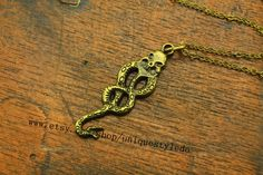 the antique Voldemort necklace harry potter jewelry vintage steampunk on Etsy, $2.30