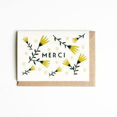 Michoucas Design Un Grand Merci Greeting Card