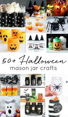 Halloween mason jar craft ideas. Kid's crafts for Halloween with mason jars. Fall crafts with mason jars. Mason jar Halloween craft ideas. Mason jar fall crafts.