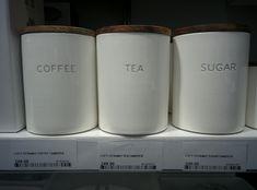 Coffee & Tea Canisters | @Home | ZAR 249 each Tea Canisters, Mugs, Coffee, Tableware, Decor, Kaffee, Dinnerware, Decoration, Tumblers