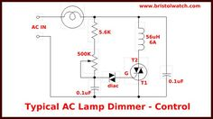 triac lamp dimmer Home Electrical Wiring, Electrical Engineering, Solar Energy, Solar Power, Renewable Energy, Diy Electronics, Electronics Projects, Ac Circuit, Ac Power