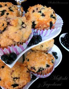 Słodka Strona: Muffinki z Jagodami i Cynamonową Kruszonką  (Marth...