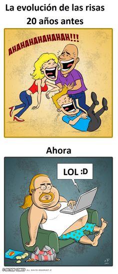 Evolución de las risas.