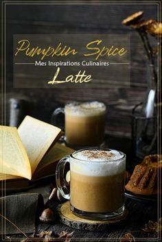 Le Café latte pumpkin spice latte - par Mes Inspirations Culinaires Latte Macchiato, Pumpkin Spice Latte, Baking Tips, New Recipes, Glass Of Milk, Tea Time, Spices, Tableware, Desserts