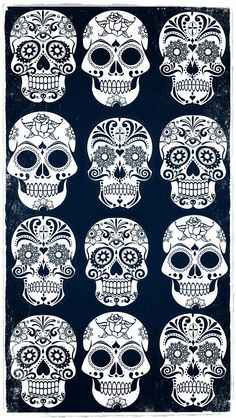 iPhone wallpaper...Calaveritas de azúcar