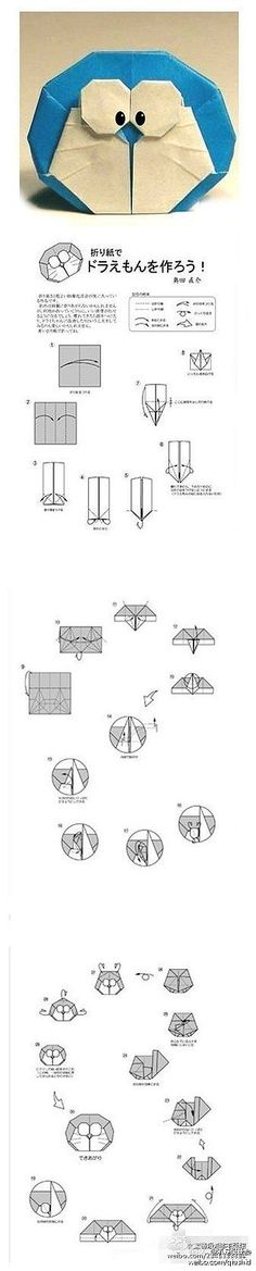 Origami Doraemon - I need to try this!