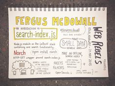 Web Rebels 2015 // Fergus McDowall