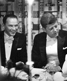 Frank Sinatra and John F. Kennedy by Phil Stern