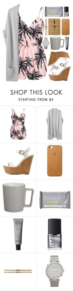 """RKY #85"" by rkingy ❤ liked on Polyvore featuring NLY Trend, Organic by John Patrick, Charlotte Russe, CB2, Dermalogica, NARS Cosmetics, Larsson & Jennings, Pink, Wedges and beach"