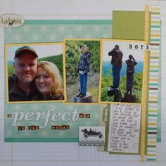 #papercrafting #scrapbook #layout Addie Hargate 4th of July 2012   Used Echo Park This & That Charming line