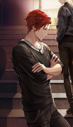 Red Hair Anime Guy, Red Hair Boy, Dark Anime Guys, Cool Anime Guys, Handsome Anime Guys, Cute Anime Boy, Anime Art Girl, Yandere Manga, Hommes Sexy