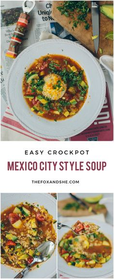 Easy crockpot Mexico City Style Soup — perfect for winter nights!