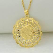 Image result for designer gold coin necklaces