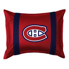 Montreal Canadiens Standard Pillow Sham, Red
