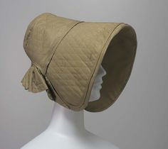 Poke bonnet | American | 1840 | silk, taffeta | Museum of Fine Arts, Boston | Accession #: 51.1964