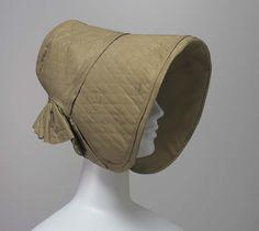 Poke bonnet | American | 1840 | silk, taffeta | Museum of Fine Arts, Boston | Accession #: 51.1964