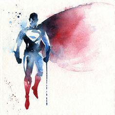 Superhelden-Portraits aus Wasserfarbe