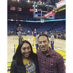 On the floor before the game. ⛹ #goldenstatewarriors #sf #basketball