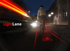 Night Biking Gadget: Mobile Laser Lane for Safer Cycling - perfect to use in São Paulo!!!