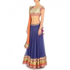 Midnight Blue Lengha Set