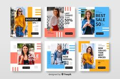 Discover thousands of copyright-free vectors. Graphic resources for personal and commercial use. Thousands of new files uploaded daily. Instagram Design, Instagram Grid, Story Instagram, Instagram Posts, Free Instagram, Facebook Instagram, Social Media Banner, Social Media Template, Social Media Design