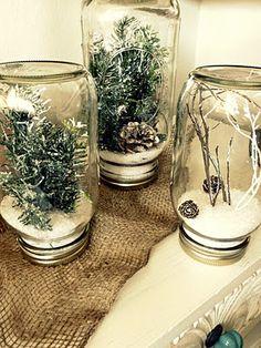My mason jar snow globes